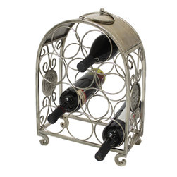 ecWorld - Urban Designs Flower Sigil 10-Bottle Table Top Metal Wine Rack - Display your wine collection in distinct style with this casual-chic wine holder. Constructed of iron and holds 10 bottles of wine in place. A wonderful accent for a contemporary, rustic and transitional inspired decor.
