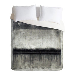 Charcoal Dust Duvet Cover - Make your bed a masterpiece with the Charcoal Dust Duvet Cover. The soothing splash of grays enhance this eclectic take on traditional duvet covers. The stylish spread comes with a hidden zipper and interior corner ties to secure your comforter. Plus, it's fade resistant.