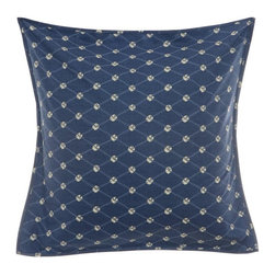 Steve Madden - Steve Madden Lani European Sham Multicolor - 204185 - Shop for Pillowcases and Shams from Hayneedle.com! Diamonds are a bed s best friend - especially the diamond print on the Steve Madden Lani European Sham. A quick easy way to dress up your snooze spot this Euro sham is made of 100% cotton with a diamond print in a bold indigo palette and an envelope closure. Display it with your own bedding or even better pair it with other Steve Madden Lani collection pieces (sold separately).About Steve Madden (Revman International)Steve Madden made his name as a leading designer of fashionable footwear and accessories; he's even considered the fashion footwear mogul of the 21st century. Now he brings his instinctive ability to sense the next hot fashion trend to a new line of bedding and bath products including sheets comforters beach and bath towels and other home products. This home collection launched in the fall of 2009 is already a big hit due largely to Madden's fashion-forward designs and dedication to quality.