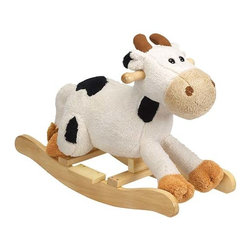 "Fifthroom - Plush Carlton Cow Rocker - Carlton's ""MOO"" will bring a smile to everyone.  He is built low to the ground so that little ones can ride him ""all by myself""."