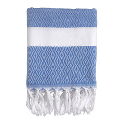 Herringbone Beach Wrap, Blue