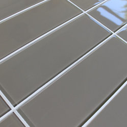 "3"" x 6"" Sample - Manhattan 4"" x 12"" Glass Subway Tiles"