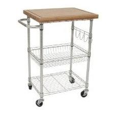 Amazon.com - TRINITY EcoStorage Bamboo Kitchen Cart - Kitchen Storage Carts
