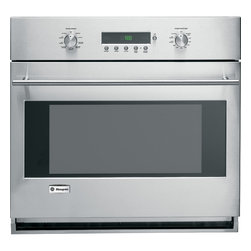 """GE Monogram - GE Monogram® 30"""" Built-In Electronic Convection Single Wall Oven - From the simplest gratin to the Thanksgiving turkey, a Monogram wall oven delivers exceptionally consistent cooking performance, every time. Of course, exceptional design, whether European or professional, takes shape in these powerful wall ovens."""