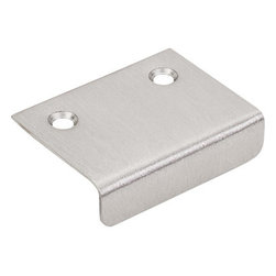 "Top Knobs - Tab Pull 2"" - Brushed Satin Nickel - Length - 1 1/2"", Width - 2"", Center to Center - 1 1/4"""