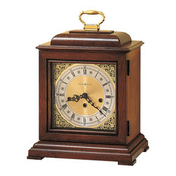 Howard Miller - Howard Miller Key Wound Chiming Mantel Clock with Handle | LYNTON - 613182 LYNTON