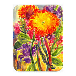 Caroline's Treasures - Flower - Aster Mouse Pad, Hot Pad Or Trivet - Mouse Pad, hot pad or trivet ... Long lasting polyester surface provides optimal tracking. Sure-grip rubber back. Permanently dyed designs. 7 3/4 inches x 9 1/4 inches. Heat Resistant up to 400 degrees. Let something from the oven rest on the stove before placing it on the mouse pad as it will scorch the fabric on the top of the pad. Use as a large coaster for multiple drinks or a pitcher.