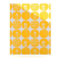 """Kess InHouse - Anneline Sophia """"Dotty Papercut Yellow"""" Circles Gray Metal Luxe Panel (16"""" x 20"""" - Our luxe KESS InHouse art panels are the perfect addition to your super fab living room, dining room, bedroom or bathroom. Heck, we have customers that have them in their sunrooms. These items are the art equivalent to flat screens. They offer a bright splash of color in a sleek and elegant way. They are available in square and rectangle sizes. Comes with a shadow mount for an even sleeker finish. By infusing the dyes of the artwork directly onto specially coated metal panels, the artwork is extremely durable and will showcase the exceptional detail. Use them together to make large art installations or showcase them individually. Our KESS InHouse Art Panels will jump off your walls. We can't wait to see what our interior design savvy clients will come up with next."""