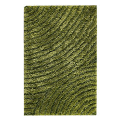 """MAT Orange Tweed Green Rug - 5'2""""x7'6"""" - The rugs in this collection are all inspired by urban lanandscapes, making way for a statement where texture, shape, and line are the form. The rug's texture and the marriage of colors speak to the contemporary room. """"It is the art piece on the floor.  Because of the artistic quality ofThe rugs they are easily used in modern as well as traditional interiors. Pile Height:1.  Inches"""