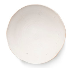 BY MERCATO - Large Fresco Serving Bowl (available in 10 colors), White - A colorful handmade serving bowl from MERCATO's Fresco Collection. The Fresco collection, which is made in Italy,  includes 10 colors to mix and match, creating endless opportunities for a unique and colorful tabletop.  Drawing inspiration from the frescoed walls of Italian palazzos and churches, the collection evokes the colors and textures of paint on plaster.
