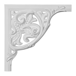 "Ekena Millwork - 11""W  x 11""H x 1""P Kepler Panel Moulding Corner - 11""W  x 11""H x 1""P Kepler Panel Moulding Corner. Our beautiful panel moulding and corners add a decorative, historic, feel to walls, ceilings, and furniture pieces. They are made from a high density urethane which gives each piece the unique details that mimic that of traditional plaster and wood designs, but at a fraction of the weight. This means a simple and easy installation for you. The best part is you can make your own shapes and sizes by simply cutting the moulding piece down to size, and then butting them up to the decorative corners. These are also commonly used for an inexpensive wainscot look."