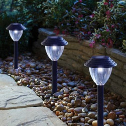 Coleman Cable, Inc/import Division - Solar Path LED Lights (Set of 6) - A stylish and simple way for safely lighting any path. Solar panel collects sunlight during the day to automatically light up the marker at night. Consistent light output across a wide area with long-lasting LEDs.