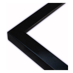 The Frame Guys - Narrow Flat Black with Lacquer Picture Frame-Solid Wood, 10x10 - *Narrow Flat Black with Lacquer Picture Frame-Solid Wood, 10x10
