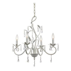 Trans Globe Lighting - Trans Globe Lighting KDL-858 5 Light 1 Tier White Candle Style Chandelier - Specifications: