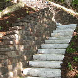 New Lightweight Rocksteps - Lake front property, Easy to install steps weighing 75% less than natural stone. No need fo heavy equipment, straps or lift machines.