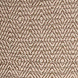 Hook & Loom Rug Company - Ashford Taupe/Natural Rug Swatch - Very eco-friendly rug, hand-woven with yarns spun from 100% recycled fiber.  Color comes from the original textiles, so no dyes are used in the making of this rug.  Made in India.