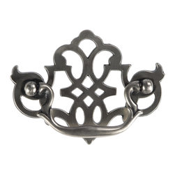 """Hickory Hardware - Manor House Silver Stone Cabinet Bail Pull, 3"""" - Classic lines, finishes and styles create a warm and comforting feel. Usually 18th-century English, 19th-century neoclassic, French country and British Colonial revival. Use of classic styling and symmetry creates a calm orderly look."""