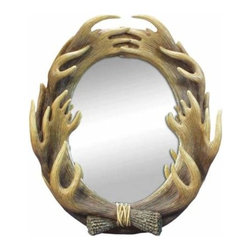 WL - 16.5 Inch Multiple Moose Antlers Surrounding the Frame or Large Mirror - This gorgeous 16.5 Inch Multiple Moose Antlers Surrounding the Frame or Large Mirror has the finest details and highest quality you will find anywhere! 16.5 Inch Multiple Moose Antlers Surrounding the Frame or Large Mirror is truly remarkable.