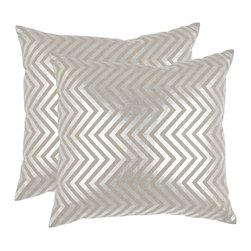 Safavieh - Elle Accent Pillow  - 18x18 - Gray - Elle Accent Pillow  - 18x18 - Gray