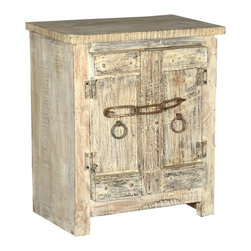 Sierra Living Concepts - Camelot Old World Style Reclaimed Wood Accent Cabinet - Another must-have rustic accent cabinet that pays tribute to fine quality, versatile reclaimed wood furniture. Camelot 2 door cabinet with Old World doors and lots of detail including chain and ring pulls.