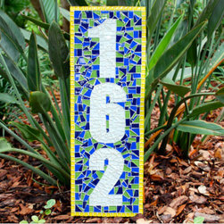 Mosaic House Numbers - Green Street Mosaics