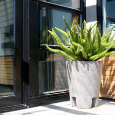 Contemporary Outdoor Planters by Concreteworks
