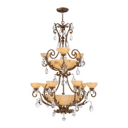 Fredrick Ramond - Fredrick Ramond FR44107FRM Barcelona Traditional Crystal Chandelier - Barcelona embodies the essence of classically influenced design  featuring a French Marble finish  tinted natural alabaster and faceted crystal accents.