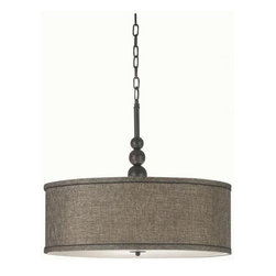 Margot Pendant by Home Decorators Collection - I love the elegant color of this drum pendant.