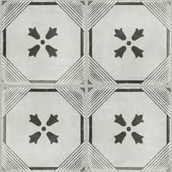 GRAPHITE DYNASTY DECO 12X24 - The Palazzo collection provides a multi-faceted dynamic of old world charm and modern beauty with three beautiful colors and four unique decorative designs. Trim options and mosaics also available.