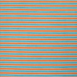 Jaipur Rugs - Flat-Weave Stripe Pattern Wool Orange/Blue Area Rug ( 2x3 ) - Bold color is the name of the game with Pura Vida. This beautiful collection of durable, reversible flat-woven dhurries combines the classic simplicity of linear patterns with a decidedly modern palette for a look that's at once casual and sophisticated.