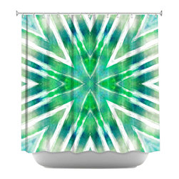 DiaNoche Designs - Shower Curtain Artistic - Batik Mandala Seacolors - DiaNoche Designs works with artists from around the world to bring unique, artistic products to decorate all aspects of your home.  Our designer Shower Curtains will be the talk of every guest to visit your bathroom!  Our Shower Curtains have Sewn reinforced holes for curtain rings, Shower Curtain Rings Not Included.  Dye Sublimation printing adheres the ink to the material for long life and durability. Machine Wash upon arrival for maximum softness. Made in USA.  Shower Curtain Rings Not Included.