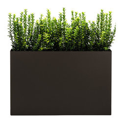 "Modern Planter - Modern Trough Planter - Bronze, Low - Green space is what you make of it. This creative planter gives you the wherewithal to plant, move and completely re-envision living and working spaces. Think of it as a different sort of ""green house effect"" that allows you to create your own personal paradise."