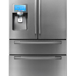 "28 cu. ft. 4-Door Refrigerator and 8"" LCD Digital Display with Apps - 28 cu. ft. 4-Door Refrigerator and 8"" LCD Digital Display."