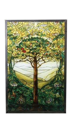 "Summit - 10 Inch Stained Glass Tiffany - ""Tree of Life"" Art Glass - This gorgeous 10 Inch Stained Glass Tiffany - ""Tree of Life"" Art Glass has the finest details and highest quality you will find anywhere! 10 Inch Stained Glass Tiffany - ""Tree of Life"" Art Glass is truly remarkable."