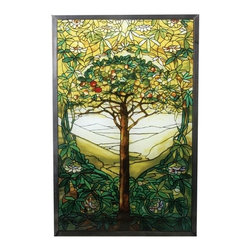 """Summit - 10 Inch Stained Glass Tiffany - """"Tree of Life"""" Art Glass - This gorgeous 10 Inch Stained Glass Tiffany - """"Tree of Life"""" Art Glass has the finest details and highest quality you will find anywhere! 10 Inch Stained Glass Tiffany - """"Tree of Life"""" Art Glass is truly remarkable."""