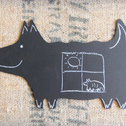 Large Dog Shaped Chalkboard by Chalk Style - A dog-shaped chalkboard makes even the most mundane notes seem more fun.