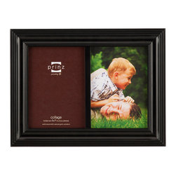 Origin Crafts - Eastman black 2 picture collage frame (5x7) - Eastman Black 2 Picture Collage Frame (5x7) Natural Pine wood, two-way easel, wall hangers. Dimensions (in): By Prinz - Prinz is a leading supplier of picture frames. At Prinz they are committed to offering unsurpassed design, quality, and value. Ships within five business days.