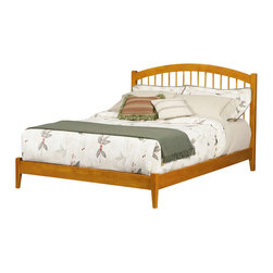 Atlantic Furniture - Atlantic Furniture Windsor Platform Bed with Open Footrail in Caramel Latte-King - Atlantic Furniture - Beds - AP9451007 - The Atlantic Furniture Windsor Platform Bed brings a smooth, romantic glow to your bedroom. The solid Asian hardwood construction of this frame ensures many years of peaceful rest. So get the rest you deserve with the Windsor Platform Bed.