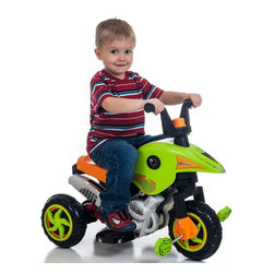 Lil Rider - Lil Rider Gemini Dual Action Motorcycle Pedal and Battery Powered Riding Toy Mul - Shop for Tricycles and Riding Toys from Hayneedle.com! Build your little rider's endurance with a power assist from the Lil Rider Gemini Dual Action Battery and Pedal Power Trike Riding Toy. Built tough to master paved terrain and grass this motorbike allows kids to pedal or scoot along on battery power. Forward and reverse gears help when getting in and out of tight parking spots. Includes a rechargeable battery and charger that plugs into a standard AC110V outlet. A fully charged battery will enable your little rider to reach speeds of 2 mph and will power the vehicle for 1-2 hours. Requires adult supervision. Keep children away from roads and moving vehicles.
