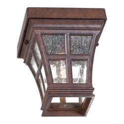 Minka Lavery - Minka Lavery Outdoor 8299-91 Mission Bay Antique Bronze 1 Light Flush Mount - Clear Seeded Glass Shade