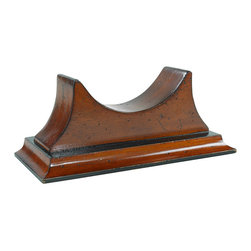 "Inviting Home - Base for Clocks - Solid mahogany clock base turns a wall clock into mantel desk or bookshelf instrument; overall dimensions: 9-1/2""W x 4""D x 4""H Solid mahogany clock base turns a wall clock into mantel desk or bookshelf instrument."