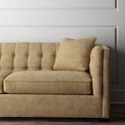 Horchow - Hayden Sofa - This sofa features tufted detail in a variety of hues that bring out the best in pastel tones while lending vintage character. Select color when ordering. Hardwood and plywood frame. Polyester/rayon upholstery. Hand-tufted back. Sinuous springs. 91...