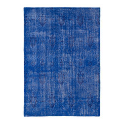 "Kaleen - Kaleen Restoration Collection RES01-17 8' x 10' Blue - The Restoration collection puts the finishing touches on a classic reproduction for some of the most unique rugs in the world. Hand-knotted in India of 100% wool, each rug is intentionally distressed by hand-shearing for authenticity, over-dyed colors for beautiful style, and complete with the smallest little details for the perfect replica of a vintage antique rug.  A 100% natural ""green"" product and completely free of any latex materials."