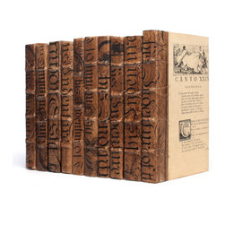 Go Home - Linear Foot of Cocoa Bold-Spenserian Books - Linear Foot of Cocoa Bold-Spenserian Books  altered-art volumes make superb vignettes, pedestals, and backdrops.Book sizes may slightly vary.