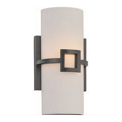 Lite Source - Lite Source Kayson Modern / Contemporary Wall Sconce XSL-77961 - Enjoy the sophistication, soothing comfort, luxury, debonair attitude, and delicate appeal of this contemporary wall pendant. The frosted glass cylinder shade provides a translucent sparkle that will delight and get people talking. This fixture looks wonderful in your living room, bedroom, bathroom, lounge, office, den, dining room, kitchen, apartment, or bungalow. The antique bronze finish is highly durable and made to fascinate.