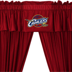 Store51 LLC - NBA Cleveland Cavaliers Drape Valance Set Basketball Drapery - FEATURES: