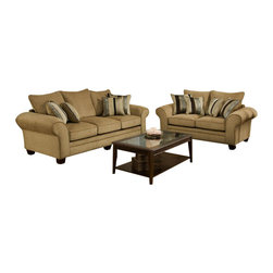 Chelsea Home Furniture - Chelsea Home 2-Piece Living Room Set in Waverly Suede - Kendu Onyx Pillows - Clearlake 2-Piece Living Room Set in Waverly Suede - Kendu Onyx Pillows belongs to the Chelsea Home Furniture collection
