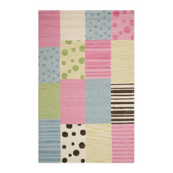 Safavieh - Kids Safavieh Kids 8'x10' Rectangle Blue-Pink Area Rug - The Safavieh Kids area rug Collection offers an affordable assortment of Kids stylings. Safavieh Kids features a blend of natural Blue-Pink color. Hand Tufted of Wool the Safavieh Kids Collection is an intriguing compliment to any decor.