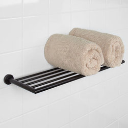 Bristow Towel Rack - The Bristow Collection Towel Rack features a clean design with round mounting bases. Pair with other items from the Bristow line for an easy bathroom update.