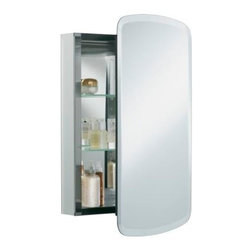 "KOHLER - KOHLER K-CB-CLC2031BAN Aluminum Single-Door Medicine Cabinet - KOHLER K-CB-CLC2031BAN 20""W x 31""H x 5""D Aluminum Single-Door Medicine Cabinet with Bancroft Mirrored Door"
